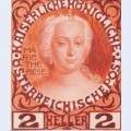 Design for the anniversary stamp austrian with empress maria theresa