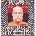 Design for the anniversary stamp with austrian emperor franz joseph