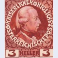 Design for the anniversary stamp with austrian emperor joseph ii