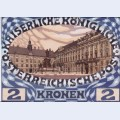 Design for the austrian jubilee stamp with view of the vienna hofburg