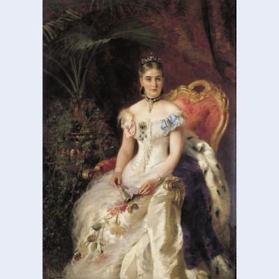 Portrait of countess maria mikhailovna volkonskaya