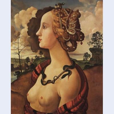 Copy of portrait of simonetta vespucci by piero di cosimo