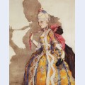 Design of costume for awnings t karsavina to dance to music by mozart