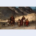 Arabian sheikhs in the mountains