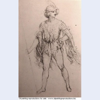 Drawing of a fancy dress costume