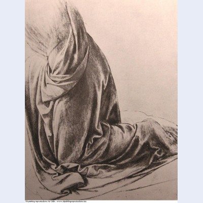 Drawing of drapery