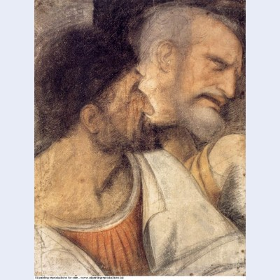 Heads of judas and peter