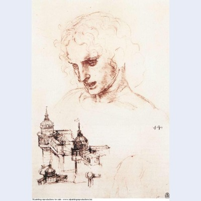 Study of an apostle s head and architectural study