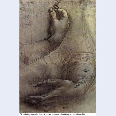 Study of arms and hands a sketch by da vinci popularly considered to be a preliminary study for
