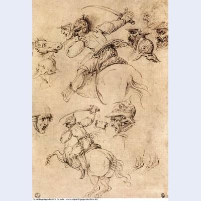 Study of battles on horseback