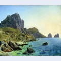 On the island of capri coastal cliffs