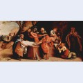 Altar polyptych of san bartolomeo bergamo foot plate entombment