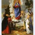 Asolo altarpiece main panel scene of the assumption with st anthony the abbot and st louis of