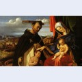 Madonna and child with saint peter martyr
