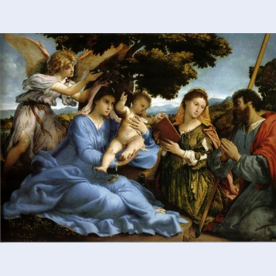 Madonna and st catherine of alexandria st james the greater and an angel