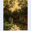 Cottages along the river wm