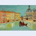 Venice canal scene with a church