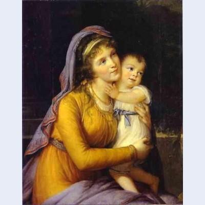Baroness anna sergeevna stroganova and her son sergey