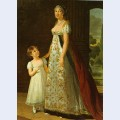 Portrait of caroline murat with her daughter letizia