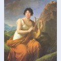 Portrait of madame de stael as corinne