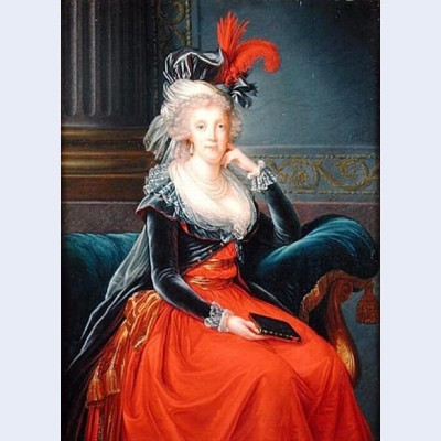 Portrait of maria carolina of austria