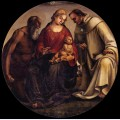 Virgin and child with sts jerome and bernard of clairvaux