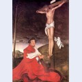 Albert cardinal elector of mainz at the foot of the cross