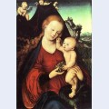 Madonna and child with a bunch of grapes