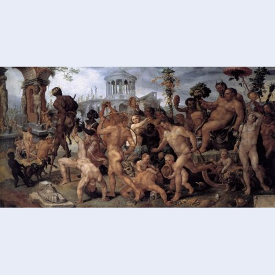 The triumphal procession of bacchus