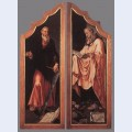 Triptych of the entombment closed