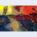 Artist over vitebsk