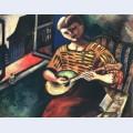 Lisa with a mandolin