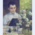 Pierre bracquemond painting a bouquet of flowers