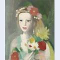 Jeune fille la guirlande de fleurs