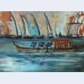 Barco com marinheiros
