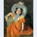 Child in orange dress