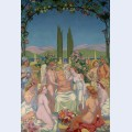 Panel in the presence of the gods jupiter bestows i