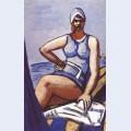 Quappi in blue in a boat