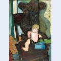 Still life with a celluloid doll and iron