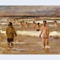 Children bathing in the sea