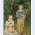 Portrait of nina and wolfgang slevogt children in the forest