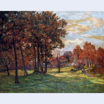 Autumn landscape at goulazon