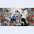 A virgem entrega o menino jesus a santo ant nio de p dua detail