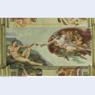 Sistine chapel ceiling creation of adam 1510