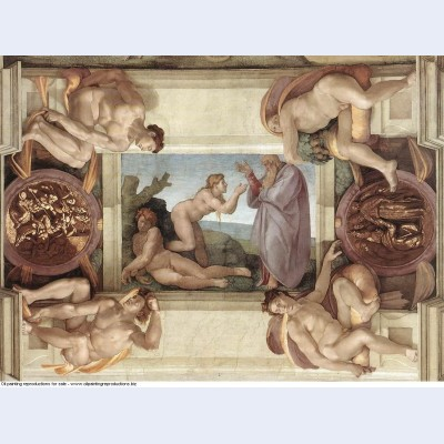 Sistine chapel ceiling creation of eve 1510
