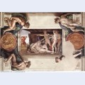 Sistine chapel ceiling drunkenness of noah 1509