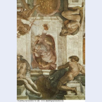 Sistine chapel ceiling god dividing land and water 1512 1
