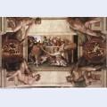 Sistine chapel ceiling sacrifice of noah 1512