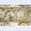 Sistine chapel ceiling the temptation and expulsion 1512