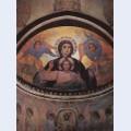 A fresco by m nesterov from akhali zarzma monastery abastumani georgia